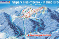 winter map of ski resort Ski Park Malino Brdo Ružomberok
