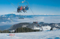 the chairlift takes you on top of Ski park Ružomberok